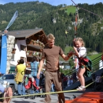 Slackline-Kinder-Parcour - Dank an den Alpenverein Großarl