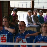 Sarah, Christina und Judith bei der Blocksicht