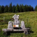 """""""Almgeheimnisse"""" treffen auf Rastbankerl am Salzburger Almenweg"""