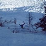Auch ein Ski-Ass kann einmal fallen (stürzen)