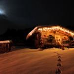 Hütte am Ortseingang von Großarl