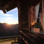 Sonnenuntergang auf der Bichlalm