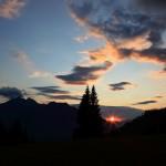 Sonnenuntergang von der Breitenebenalm