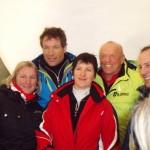 Die zwei Skiasse Armin Assinger und David Zwilling mit Begleitern