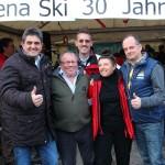 Hans Hettegger (Edelweiss), Rick Porters, Thomas Wirnsperger (TVB), Wies Porters, Sepp Gruber (Bergbahnen)