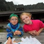 Freuen sich über den letzten Stempel: Christina und Tomi