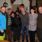 Harry, Lois, Lisa, Marina Berger (Aschaustüberl), Toni Gruber (einer der Ziehschlittenfahrer)