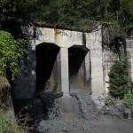 Die unterste und größte der Sperren im Unterberggraben