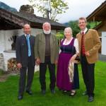 Die Forchers mit Martin Zeppezauer (Gastein Tourismus) und Thomas Wirnsperger (TVB Großarltal)