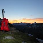 Tagesanbruch am Oberen Schwarzhornsee