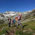 Wanderer unterwegs zum Ankogel