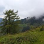 Abstieg mit Blick hinüber zur Unterwandalm