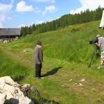 Sepp Forcher und das Team von Klingendes Österreich auf der Saukaralm