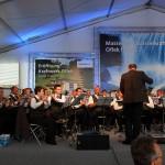 Die Werksmusikkapelle der Energie-AG gestaltete den Gottesdienst und den Festakt