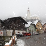 Schneefall am Sonntag