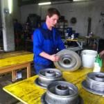 Hannes Ammerer - unser neuer Lehrling bei der Seilrollenrevision
