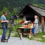 Claus und Marianne am Brot-Backofen