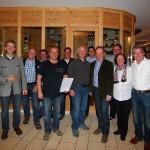 Gruppenfotos mit Superfly und den Vertretern des Großarltales