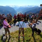 Rast am Weg zum Gipfel