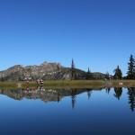 Blick vom Spiegelsee zum Schuhflicker