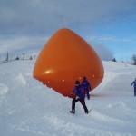 Positionierung des Ballons