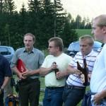 Hüttenwirt Christian mit einheimischen Grafen-Fans
