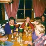 Reinhold umgeben von Pokalen - dieses Motiv findet sich vielfach im Bergbahn-Fotoarchiv