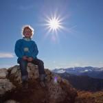 Herrlich wärmt die Sonne den Rücken bei ca. 12 Grad auf 2.048 m