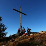 Rast am Kreuz unterhalb des Saukarkopfs