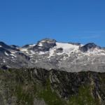 """Blick beim Anstieg auf das Murtörl hinüber zum """"Kees"""" (Keeskogel, 2.884 m)"""