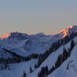 Sonnenaufgang am Sonnblick mit Österreichs höchster Wetterwarte