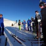 Skier angeschnallt - gleich geht´s los
