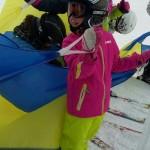 Skifahren mit dem Schneesegel