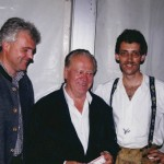 Musikantenfestival 1999: TVB-Obmann Franz Zraunig, Slavko Avsenik und meine Wenigkeit .