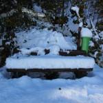 Nach Einsetzen des Tauwetters sind es immer noch über 20 cm Neuschnee