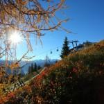 Herbst an der Panoramabahn-Bergstation