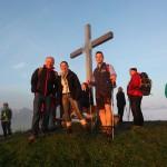 Gipfelgespräch in der Morgensonne