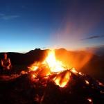 Das Feuer wärmt - die Idylle ist schier unendlich