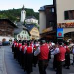Einzug der Trachtenmusikkapelle Großarl in den Marktplatz