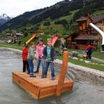 """Gaud-Alm """"Bergsee"""" mit Floßanlage"""