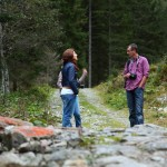 Zwei Teilnehmer meiner Gruppe - sichtlich angetan von der Natur im Hüttschlager Talschluss