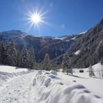 Winterwandern im Talschluss - Blick zum Keeskogel, 2.884 m