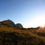 Tagesanbruch auf der Muritzenscharte, 2.386 m