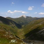 Blick zum Weißeck, darunter das Murtal/Sticklerhütte