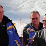 Albert Mally (Ö3) mit einem Team der Großarler Bergbahnen