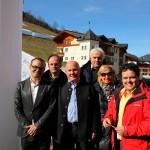 Albert Mally (Ö3), Sepp Gruber (Prokurist der Bergbahnen), Hans Toferer (Bgm. Hüttschlag), Franz Zraunig (Obmann TVB), Gertraud Gerzer (Bergbahnen Geschäftsführerin), Alois Holzer (Ö3-Wetterredaktion)