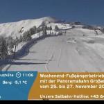 Kaum zu glauben - Panoramabild Großarltal von heute 09. 11. 2016