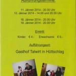 Aufführungstermine Theater Hüttschlag